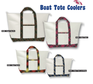 Plaid Boat Tote Coolers