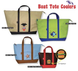 3-D Boat Tote Coolers
